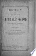 Noticia de la vida y escritos de d. Manuel Milá y Fontanals