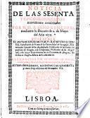 Noticia de las sesanta y cinco proposic. nuevamente condenadas por Innoc. XI, 1679