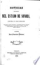 Noticias estadisticas del estado de Sonora