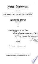 Noticias históricas de las comunas de Lomas de Zamora y Almirante Brown (Adrogué)