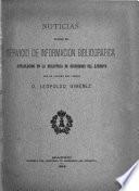 Noticias sobre el Servicio de Información Bibliográfica establecido en la Biblioteca de Ingenieros del Ejército, por el capitán de incenieros [!] D. Leopoldo Giménez