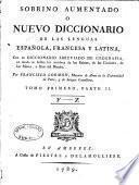 Nouveau dictionnaire de Sobrino, françois, espagnol et latin