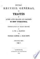 Nouveau recueil général de traités et autres actes relatifs aux rapports de droit international