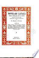 Novelari catalá dels segles XIV a XVIII.
