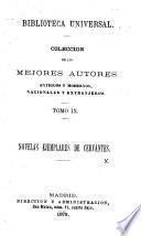 Novelas Ejemplares. (Rinconete y Cortadillo.-El Celoso Extremeño.-Las Dos Doncellas.).