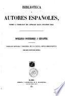 Novelistas posteriores a Cervantes collección revisada y precedida de una noticia critico bibliografica por don Cayetano Rosell