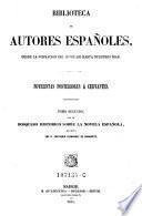 Novelistas posteriores a Cervantes. Tomo 2, con un bosquejo historico sobre la novel espanola