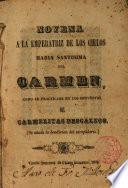 Novena a ... Maria Santísima del Carmen como se practicaba en los Conventos de Carmelitas Descalzos