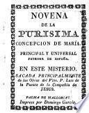 Novena de la Purísima Concepción de Maria