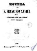 Novena de S. Francisco Xavier de la Compañía de Jesus, apóstol de las indias