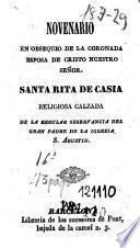 Novenario en obsequio de la coronada esposa de Cristo Nuestro Señor santa Rita de Casia