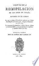 Novísima recopilacion de las leyes de España, 1