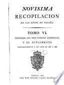 Novísima recopilacion de las leyes de España, 6