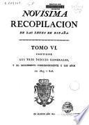 Novísima recopilacion de las leyes de España