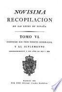 Novísima recopilación de las leyes en España