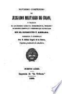 Novísimo compendio de juzgados militares de Colon, correjido y aumentado por J. Lopez de la Cuesta