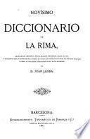 Novisimo diccionario de la rima