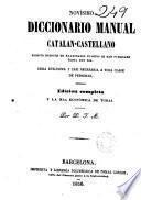 Novísimo diccionario manual catalan-castellano