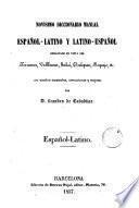 Novisimo diccionario manual español-latino y latino-español, 2
