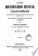 Novisimo dicionario manual catalán-castellano