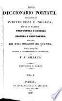 Novo diccionario das Portugueza e Ingleza, en duas partes