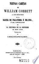Nuevas cartas de William Cobbett a los ministros de la Iglesia de Inglaterra e Irlanda
