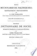 Nuevo diccionario de faltriquera español-francés y francés-español