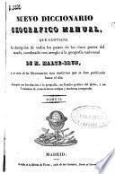 Nuevo diccionario geográfico manual: LAB-Z