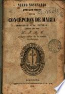Nuevo novenario que las Hijas de la Concepción de María consagran a su tutelar