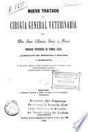 Nuevo tratado de cirugía general veterinaria