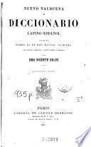 Nuevo Valbuena, ó, Diccionario latino-español