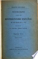 Nuevos datos acerca del histrionismo español en los siglos XVI y XVII