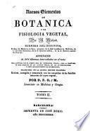 Nuevos elementos de botanica y de fisiologia vegetal
