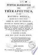 Nuevos elementos de therapéutica, y de materia médica