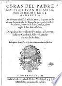 Obras ... aora de nuevo anadida la vida del autor, y las partes que de tener un predicador del Evangelio por Luys de Granada