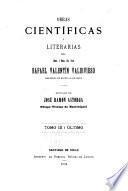 Obras científicas i literarias del Rafael Valentín Valdivieso