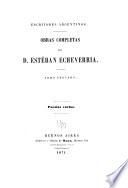 Obras completas de D. Esteban Echeverria: Poesias varias