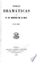 Obras completas de d. Francsico Martinez de la Rosa