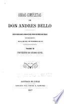 Obras completas de don Andrés Bello