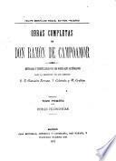 Obras completas de Don Ramón de Campoamor: Obras filosóficas