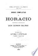 Obras completas de Horacio: Sátiras y epístolas