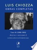 Obras completas de Luis Chiozza. Tomo XI