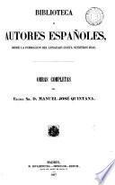 Obras completas del excmo sr. d. Manuel José Quintana