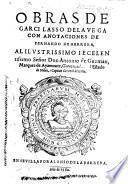 Obras ... Con anotaciones de Fernando de Herrera