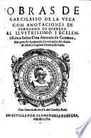Obras, con anotaciones de Fernando de Herrera