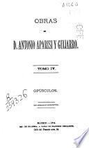 Obras de D. Antonio Aparisi y Guijarro