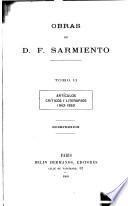 Obras de D.F. Sarmiento ...: Artículos críticos y literarios, 1841-1853. 1909