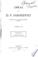 Obras de D. F. Sarmiento ...: Comentarios de la constitucion. 1895