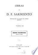 Obras de D. F. Sarmiento ...: Discursos parlamentarios. 1898