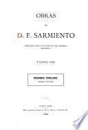Obras de D.F. Sarmiento: Discursos populares. 1899